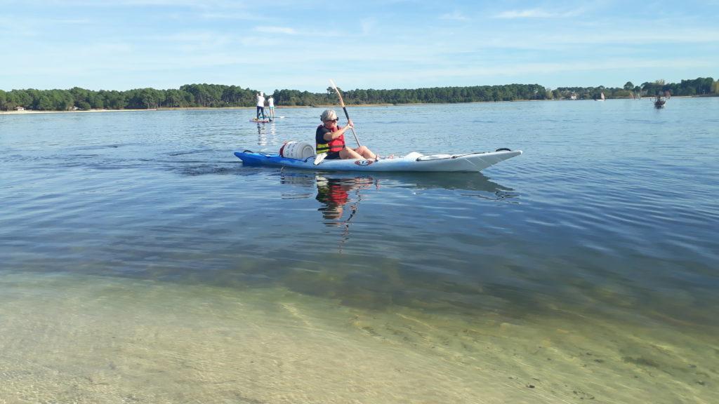randonée en kayak sur lac