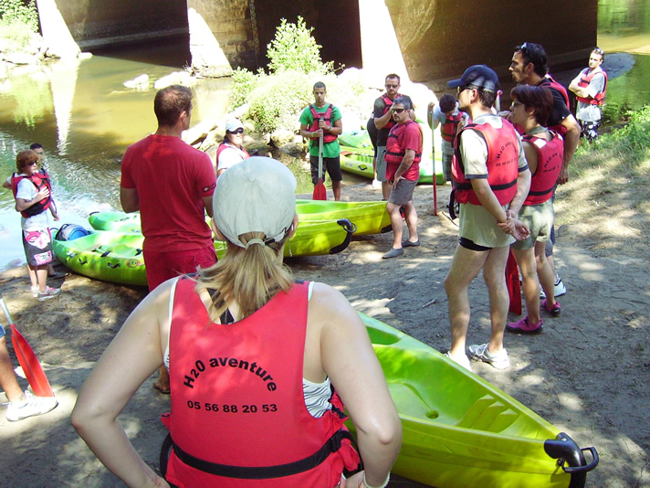 randonnée en canoë et kayak