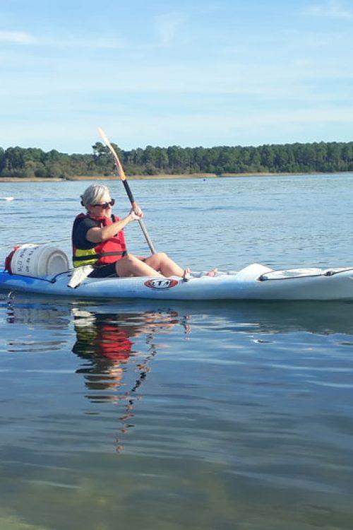 kayak sur lac